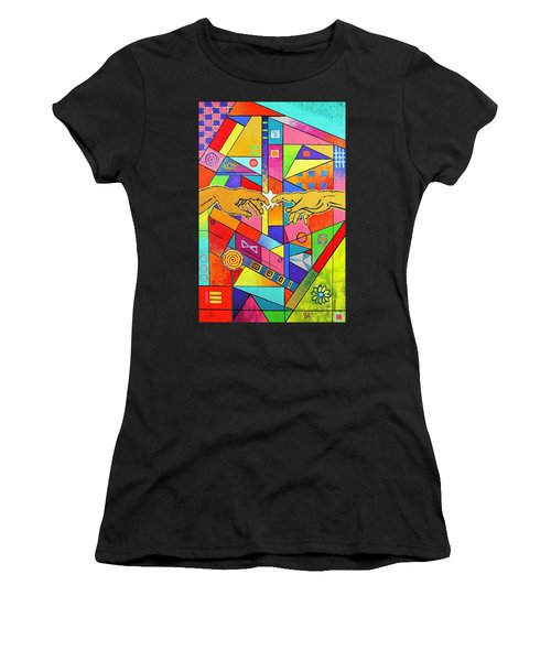 Origin Of Man Women's T-Shirt (Athletic Fit)