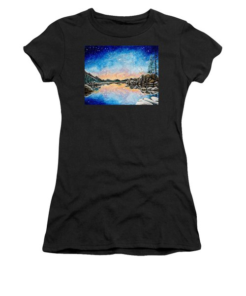 Orion Over Tahoe Winter Women's T-Shirt (Athletic Fit)