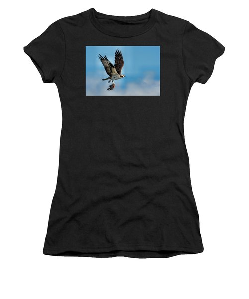 Osprey With Rainbow Bass 2 Women's T-Shirt (Athletic Fit)