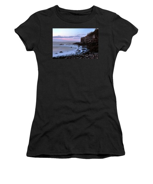 Otter Cliff Awash Women's T-Shirt (Athletic Fit)