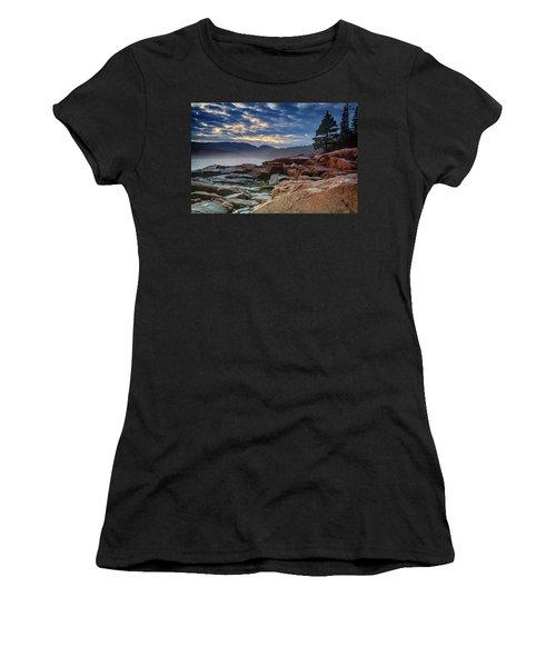 Otter Cove In The Mist Women's T-Shirt (Junior Cut) by Rick Berk
