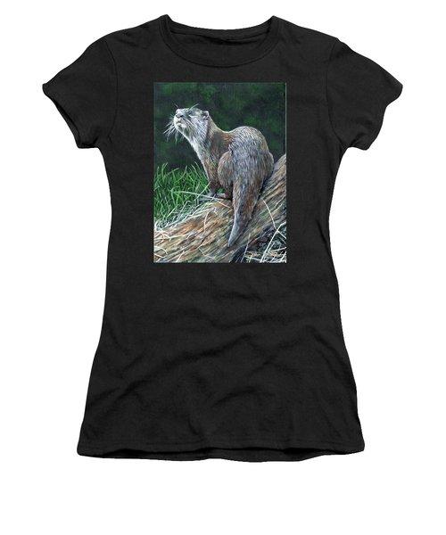 Otter On Branch Women's T-Shirt