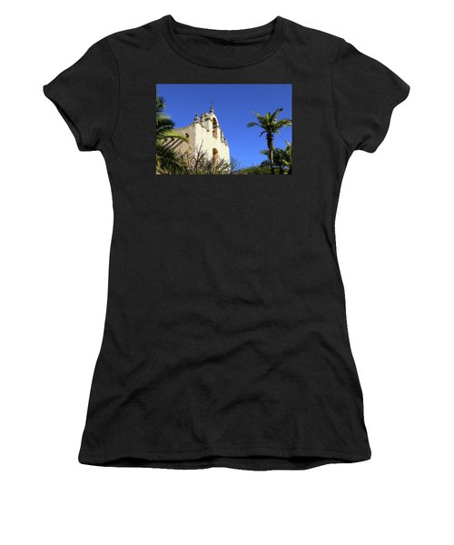 Women's T-Shirt (Junior Cut) featuring the photograph Our Lady Of Mount Carmel - Montecito by Art Block Collections