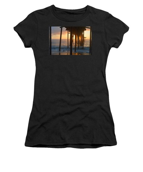 Women's T-Shirt featuring the photograph Outer Banks Pier 7/6/18 by Barbara Ann Bell