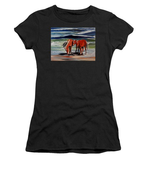 Outer Banks Wild Horses Women's T-Shirt (Athletic Fit)
