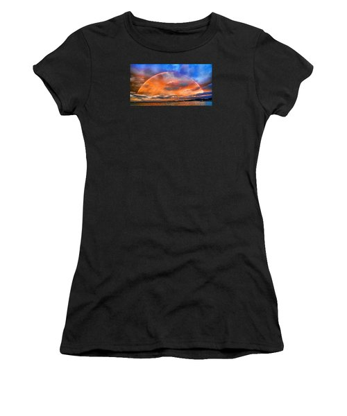 Women's T-Shirt (Junior Cut) featuring the photograph Over The Top Rainbow by Steve Siri