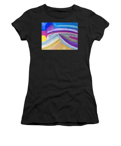 Women's T-Shirt featuring the painting Over The Waves by Norma Duch