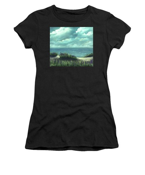 Women's T-Shirt featuring the painting Overcast by Anastasiya Malakhova