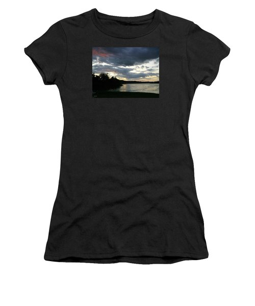 Overcast Morning Along The River Women's T-Shirt (Junior Cut) by Skyler Tipton