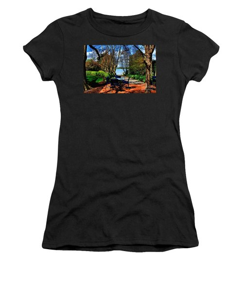 Overlook Cafe Women's T-Shirt (Athletic Fit)