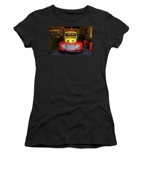 Overpainted 1950 Ford Pickup Women's T-Shirt (Athletic Fit)