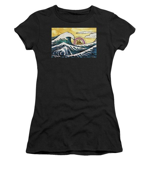Women's T-Shirt (Athletic Fit) featuring the painting Overwhelming Love by Nathan Rhoads