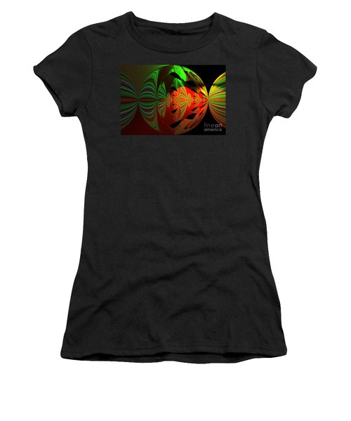 Art Green, Red, Black Women's T-Shirt (Athletic Fit)