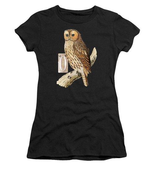 Owl T Shirt Design Women's T-Shirt (Athletic Fit)