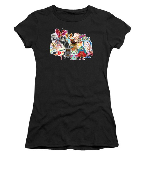 Owls Collage By Isabel Salvador Women's T-Shirt