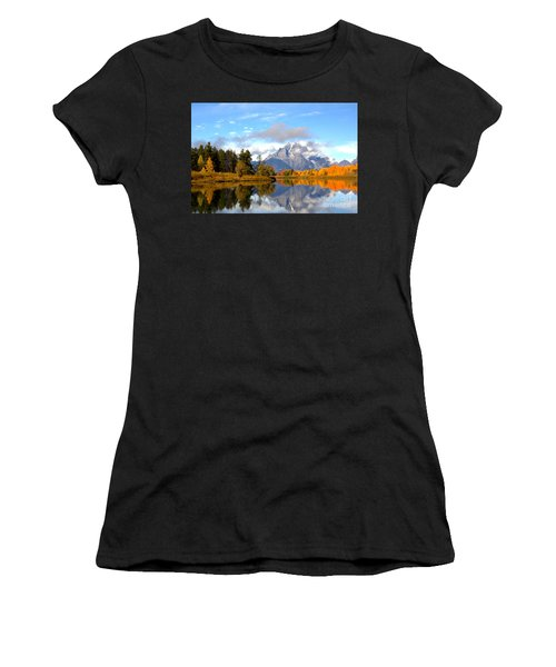 Mt Moran At Oxbow Bend Women's T-Shirt (Athletic Fit)