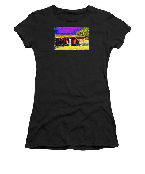 Women's T-Shirt (Junior Cut) featuring the digital art Oyster Hut by Kirt Tisdale