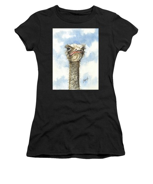 Women's T-Shirt featuring the painting Ozzie by Sam Sidders