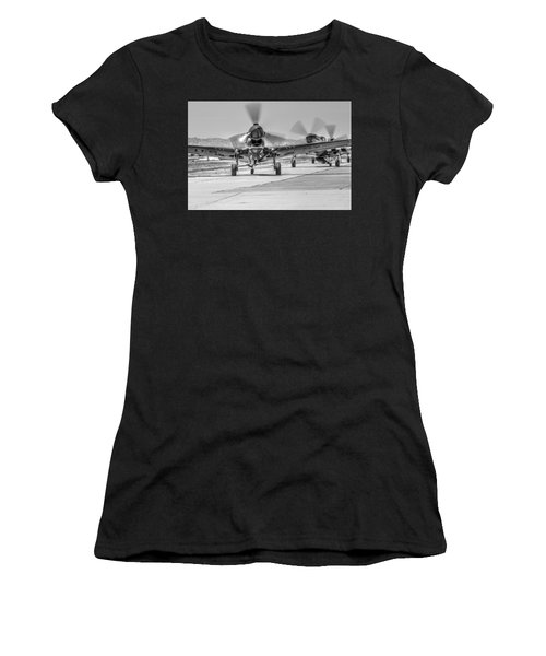 Women's T-Shirt featuring the photograph P40 Warhawk At Hollister Airshow by John King