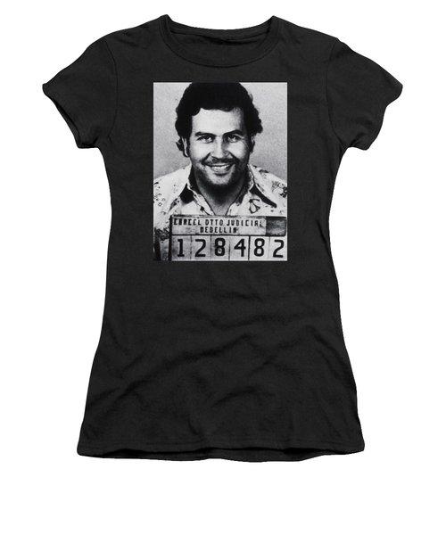 Pablo Escobar Mug Shot 1991 Vertical Women's T-Shirt