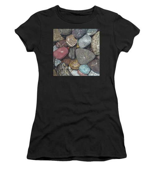 Pacific Nw Beach Rocks Women's T-Shirt (Athletic Fit)