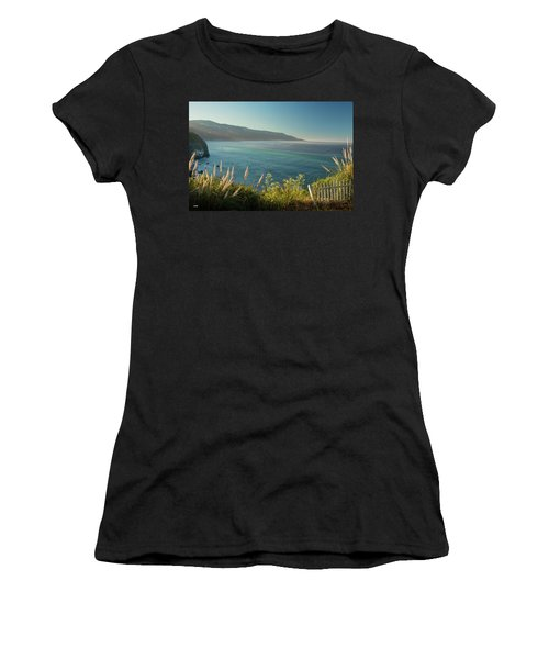 Pacific Ocean, Big Sur Women's T-Shirt (Athletic Fit)