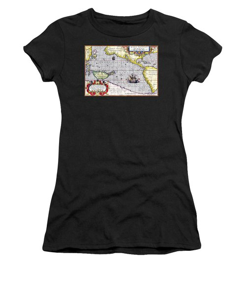 Pacific Ocean Vintage Map Women's T-Shirt