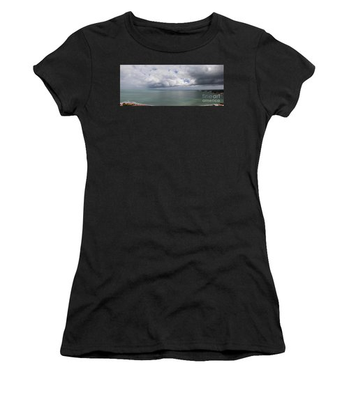 Pacific Storm Panorama Women's T-Shirt (Athletic Fit)