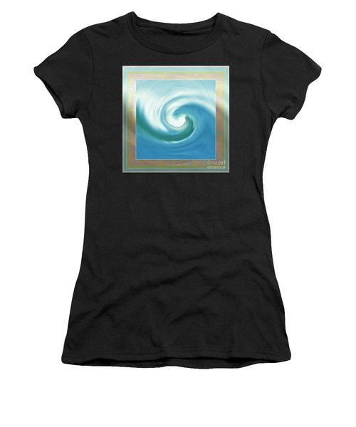 Pacific Swirl With Border Women's T-Shirt