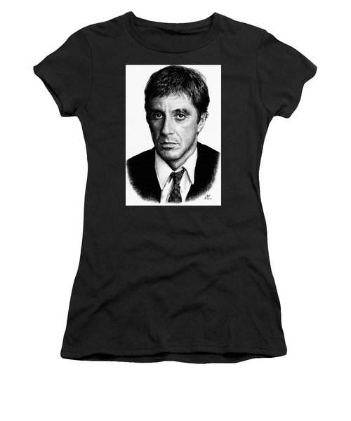 Pacino Scarface Women's T-Shirt (Athletic Fit)