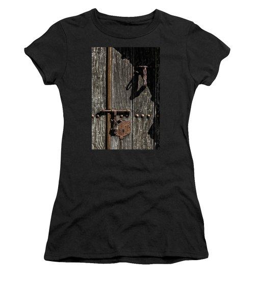 Women's T-Shirt (Junior Cut) featuring the photograph Padlock by Edgar Laureano