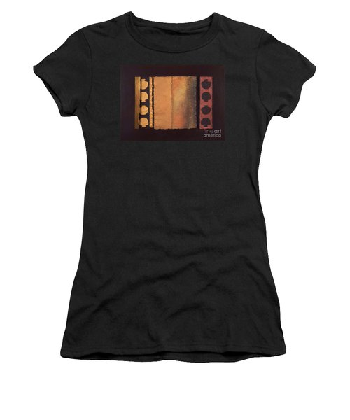 Women's T-Shirt (Junior Cut) featuring the painting Page Format No.4 Tansitional Series  by Kerryn Madsen-Pietsch