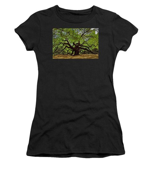 Painted Angle Tree Women's T-Shirt (Athletic Fit)