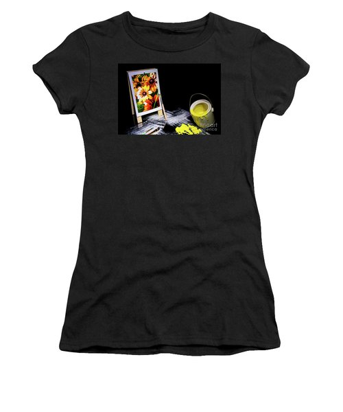 Painted Canvas Women's T-Shirt (Athletic Fit)