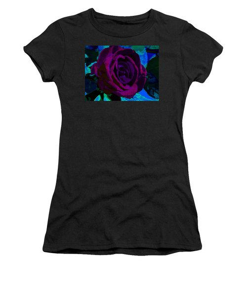 Painted Rose Women's T-Shirt (Athletic Fit)