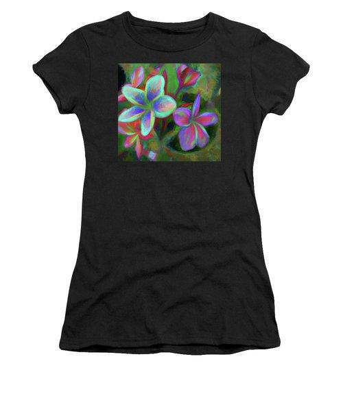 Painterly Frangipanis Women's T-Shirt