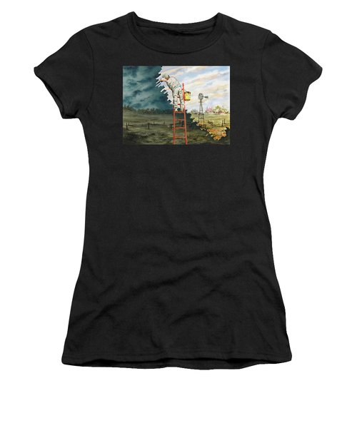 Paintin Up A Storm Women's T-Shirt (Athletic Fit)