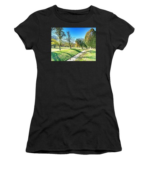 Painting With Shadows - Park Day Women's T-Shirt (Athletic Fit)