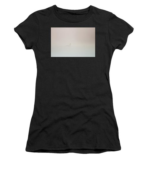 Pale Outline In The Fog Women's T-Shirt (Athletic Fit)
