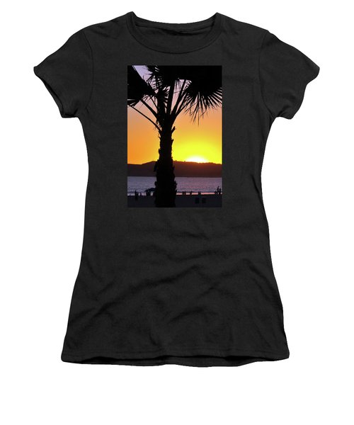 Palm At Sunset Women's T-Shirt