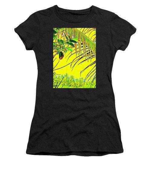 Palm Fragment In Yellow Women's T-Shirt