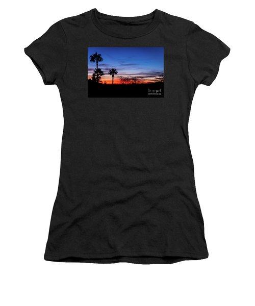 Palm Shadows II Women's T-Shirt (Athletic Fit)