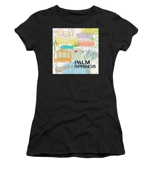 Palm Springs Cityscape- Art By Linda Woods Women's T-Shirt