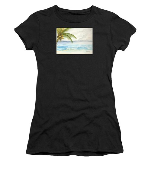Women's T-Shirt featuring the digital art Palm Tree Study by Darren Cannell