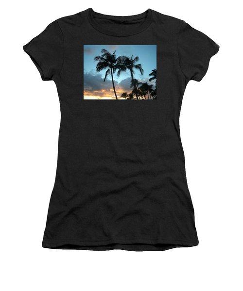 Palm Trees At Sunset Women's T-Shirt