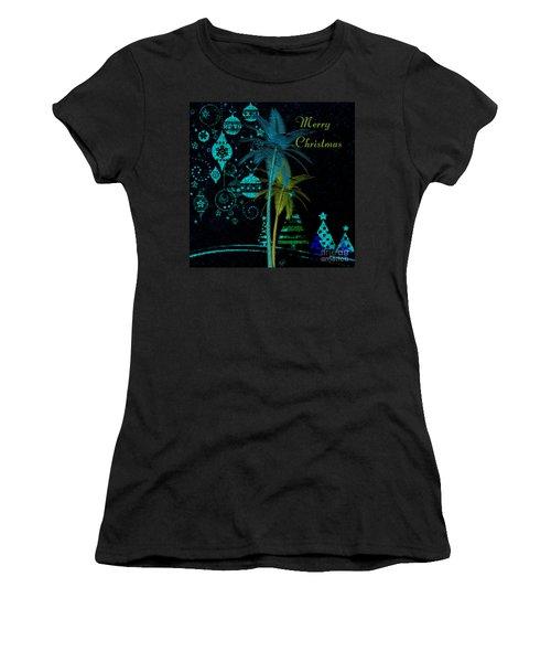 Palm Trees Merry Christmas Women's T-Shirt