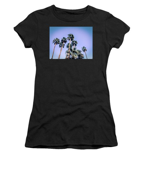 Palm Trees Palm Springs Summer Women's T-Shirt (Athletic Fit)