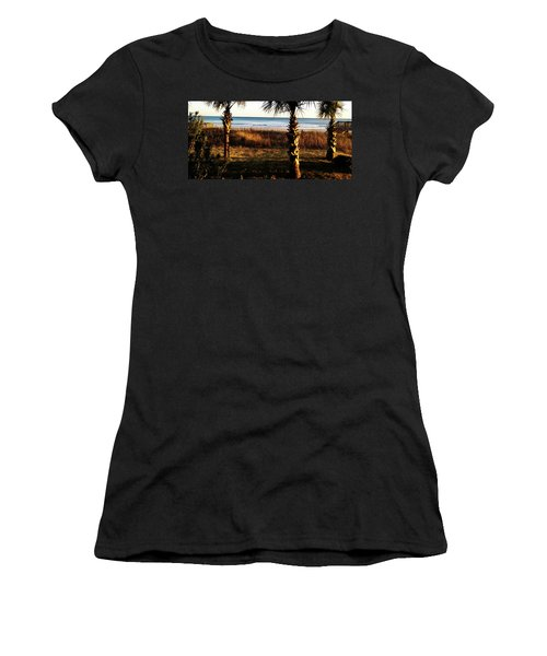 Women's T-Shirt featuring the photograph Palm Triangle by Robert Knight