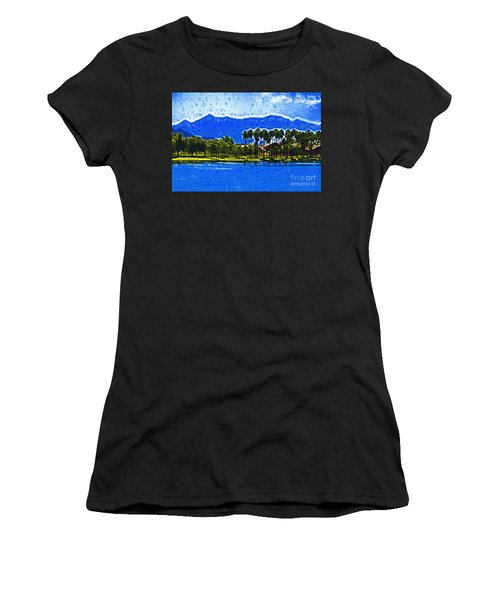 Palms And Mountains Women's T-Shirt (Junior Cut) by Kirt Tisdale