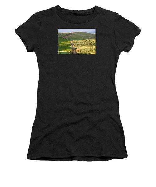 Palouse Backroads Women's T-Shirt (Athletic Fit)
